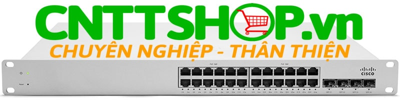 Switch Cisco Meraki MS350-24P-HW 24 Ports PoE+ 370W, 4 SFP+ Uplinks