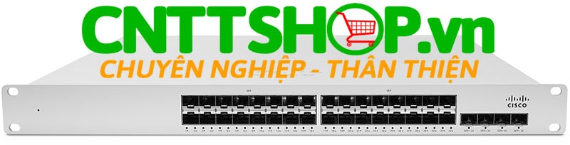 Thiết bị mạng switch Cisco Meraki MS410-32 Layer-3 32-port 1Gbe SFP and 4-port 10Gbe SFP+, hot-swappable PS / fans