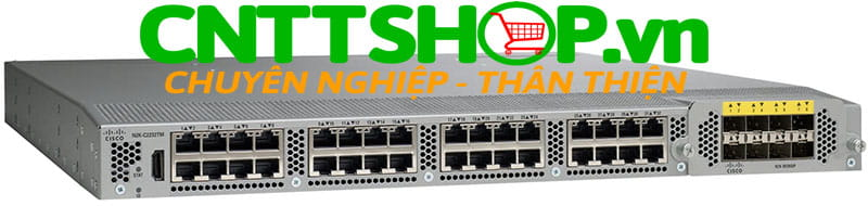 Thiết bị mạng switch cisco Nexus N2K-C2232TM-10GE 10GBASE-T Fabric Extender, 2 AC PS, 1 Fan Module (Standard Airflow/port side exhaust), 32x1/10GBase-T + 8x10GE Module (req SFP+)