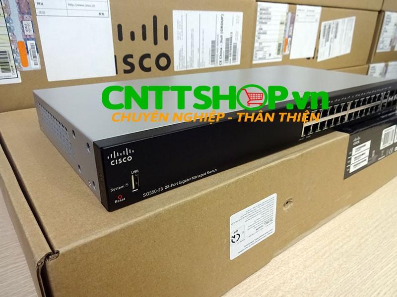 SG350-28-K9-EU Switch Cisco 24 Ports GE, 2 SFP slots, 2 combo M-GBIC | Image 6
