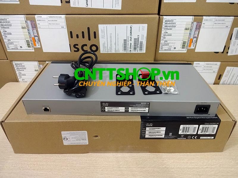 SG350-28-K9-EU Switch Cisco 24 Ports GE, 2 SFP slots, 2 combo M-GBIC | Image 3