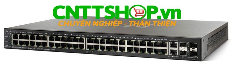 Switch Cisco SG500-52MP-K9 48 Ports 10/100/1000 PoE+ 740W, 4 GE Uplink (2 combo* GE + 2 1GE/5GE SFP)