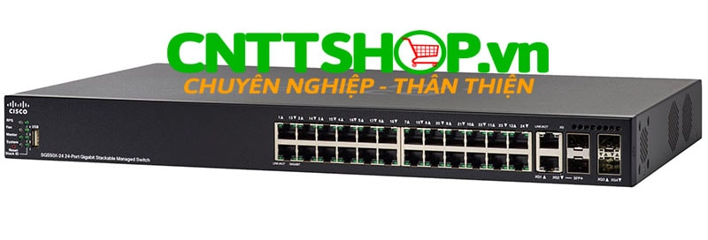 Switch Cisco SG550X-24MP 24 x 10/100/1000 PoE+ Ports 382W, 4 x 10 GE (2 x 10GBase-T/SFP+ combo + 2 x SFP+)