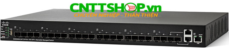 Switch Cisco SG550XG-24F-K9 24x 10 Gigabit Ethernet SFP+, 2x 10 Gigabit Ethernet 10Gbase-T (combo with 2 SFP+)