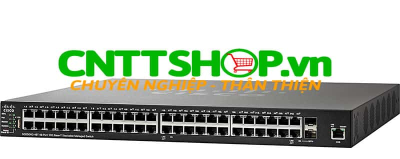 Switch Cisco SG550XG-48T-K9 48x 10 Gigabit Ethernet 10GBase-T, 2x 10 Gigabit Ethernet SFP+ (combo with 2 copper ports)