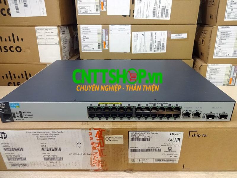 J9779A Switch Aruba 2530 24 Ports 10/100 PoE+ 195W, 4 Uplink Ports   Image 1