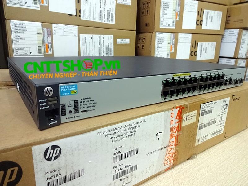 J9779A Switch Aruba 2530 24 Ports 10/100 PoE+ 195W, 4 Uplink Ports   Image 2