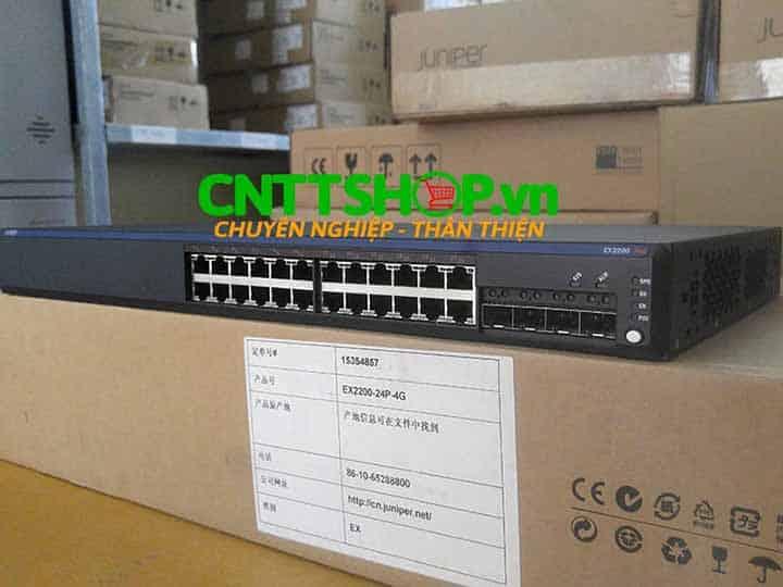 EX2200-24P-4G Switch Juniper 24 Ports PoE+ 4 SFP Slot | Image 1