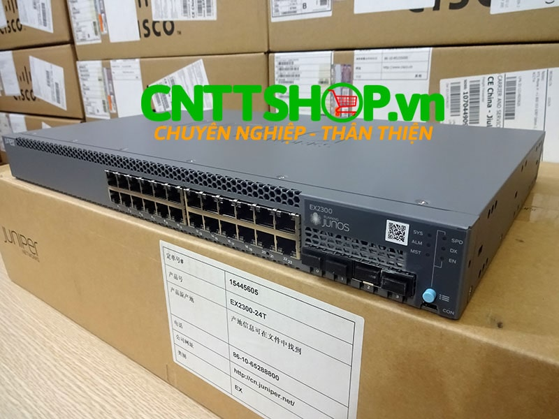 Switch Juniper EX2300-24T EX2300 24 Ports 10/100/1000BASE-T, 4 x 1/10GbE SFP/SFP+ Uplink Slot