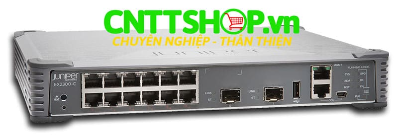 Switch Juniper EX2300-C-12T-TAA 12-port 10/100/1000BASE-T, 2x10GE SFP Slot