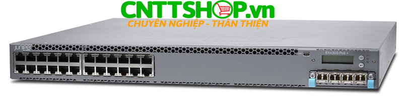 EX4300-24P Switch Juniper EX4300 24 Port 10/100/1000BASE-T PoE+ 565W with 715WAC PS