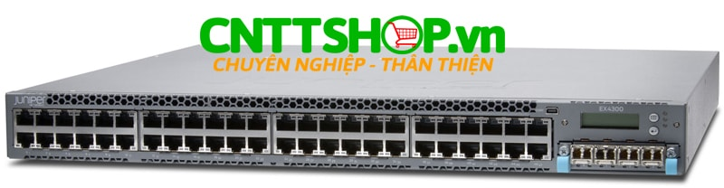 EX4300-48T-DC-TAA Switch Juniper TAA EX4300 48 Port 10/100/1000BASE-T with 550W DC PS