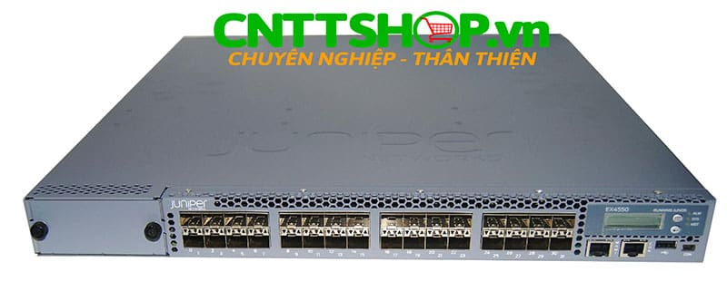 EX4550-32F-AFI Switch Juniper EX4550 32 Port 1/10GbE SFP+, 650WAC PS, PSU side to port side airflow