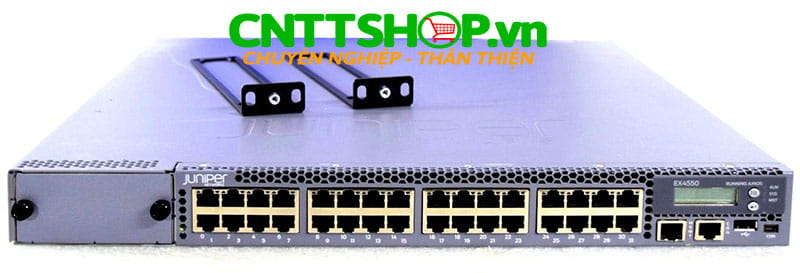 EX4550-32T-DC-AFI Switch Juniper EX4550 32 Port 100/1G/10GBASE-T, 650WDC PS, Back to Front Airflow