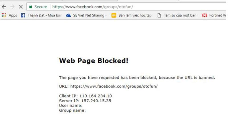 Cấu hình Web Filtering - Block 1 đề mục trên Website  - CNTTShop